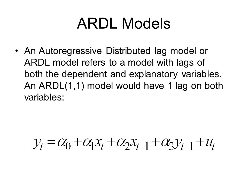 how to write an ardl model