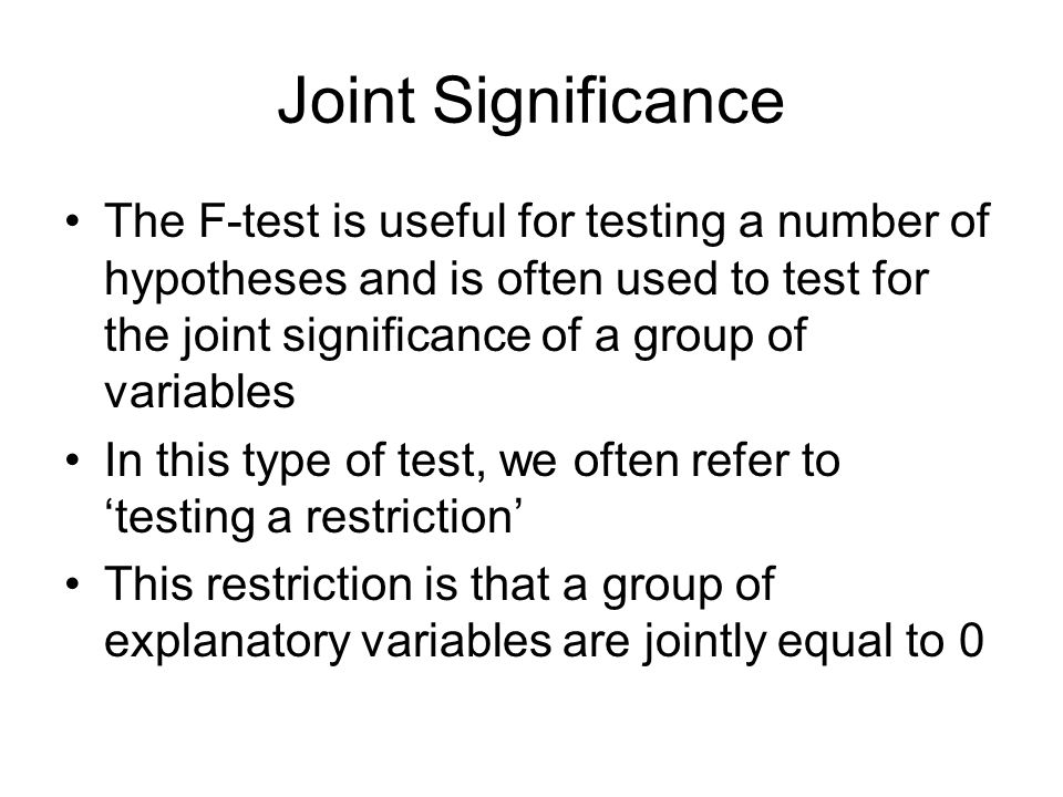 Joint Significance