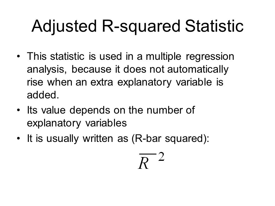 Adjusted R-squared Statistic