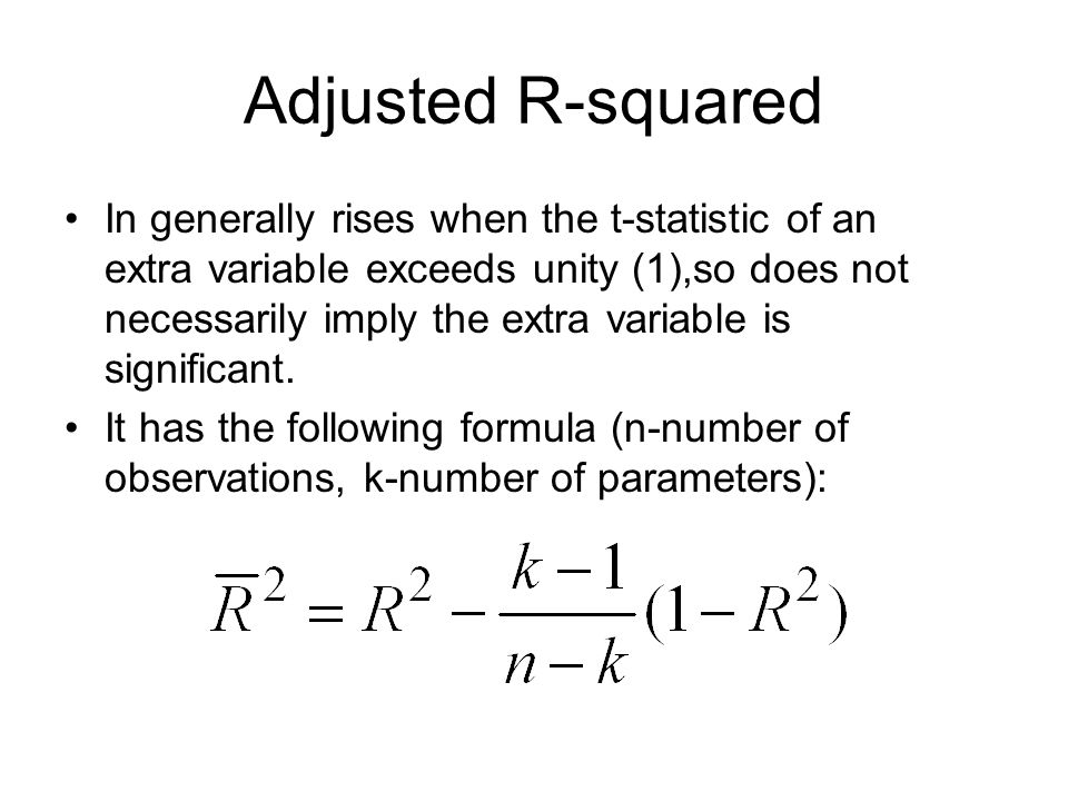 Adjusted R-squared