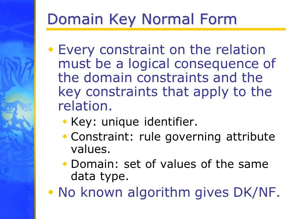 Domain Key Normal Form