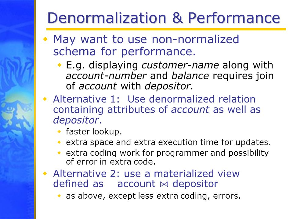 Denormalization & Performance