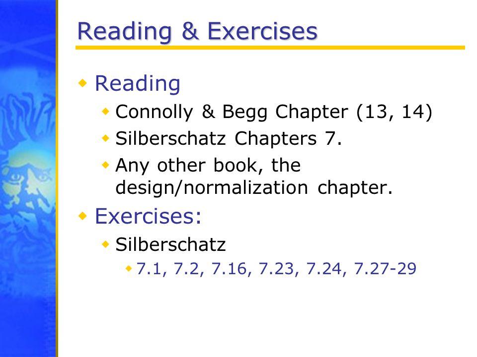Reading & Exercises Reading Exercises: