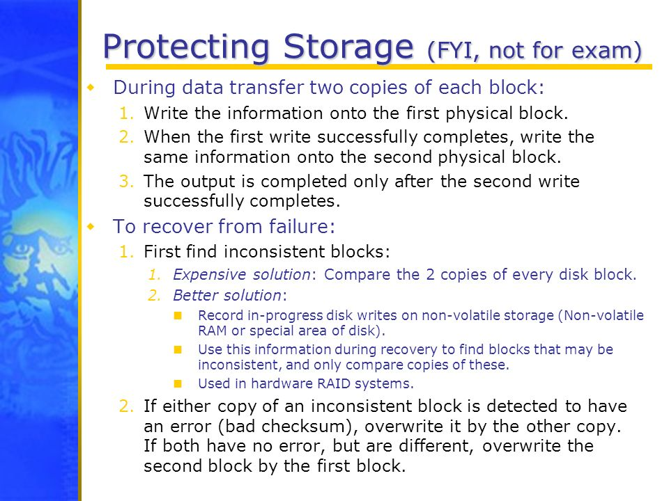 Protecting Storage (FYI, not for exam)