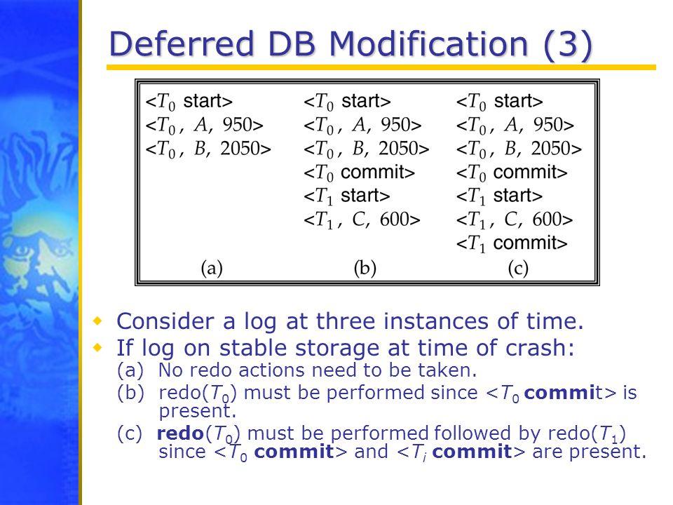 Deferred DB Modification (3)