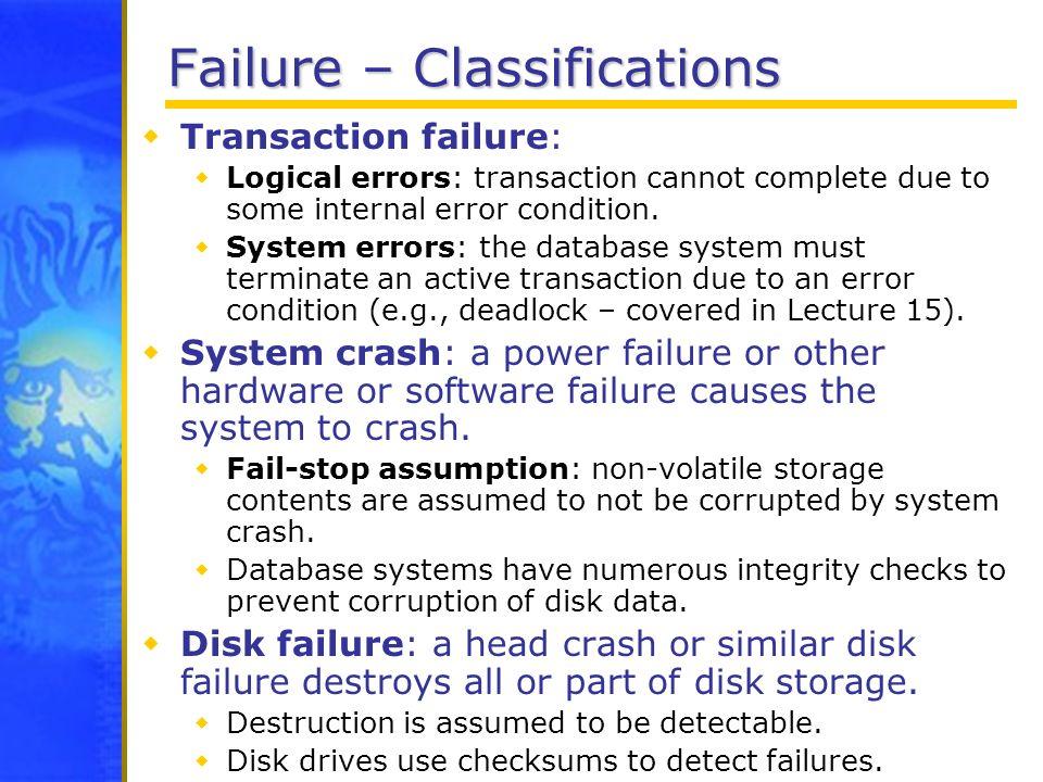 Failure – Classifications