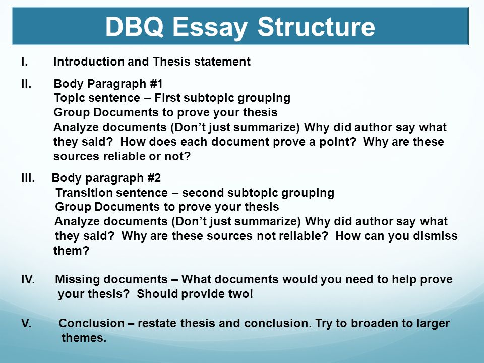 1984 dbq thesis Ap ® us history sample syllabus 2 contents curricular requirements ii.