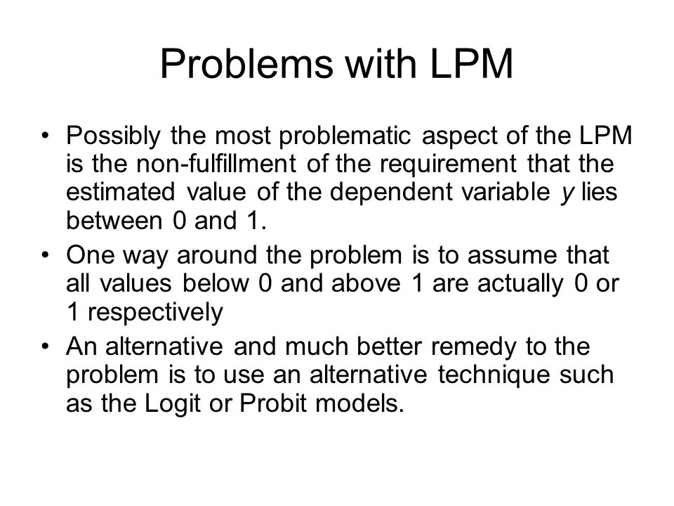 Problems with LPM