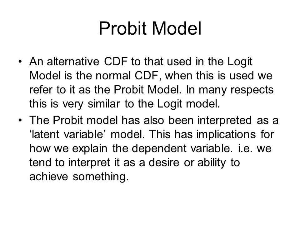 Probit Model