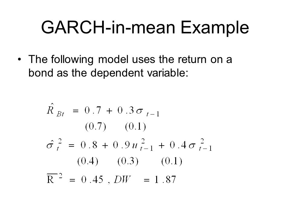 GARCH-in-mean Example