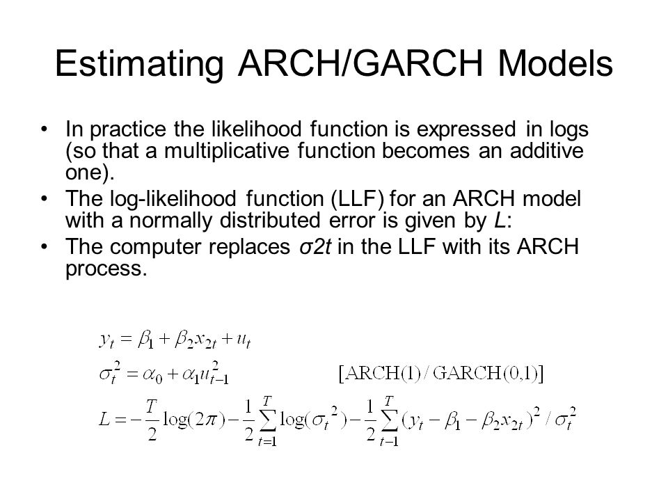 Estimating ARCH/GARCH Models