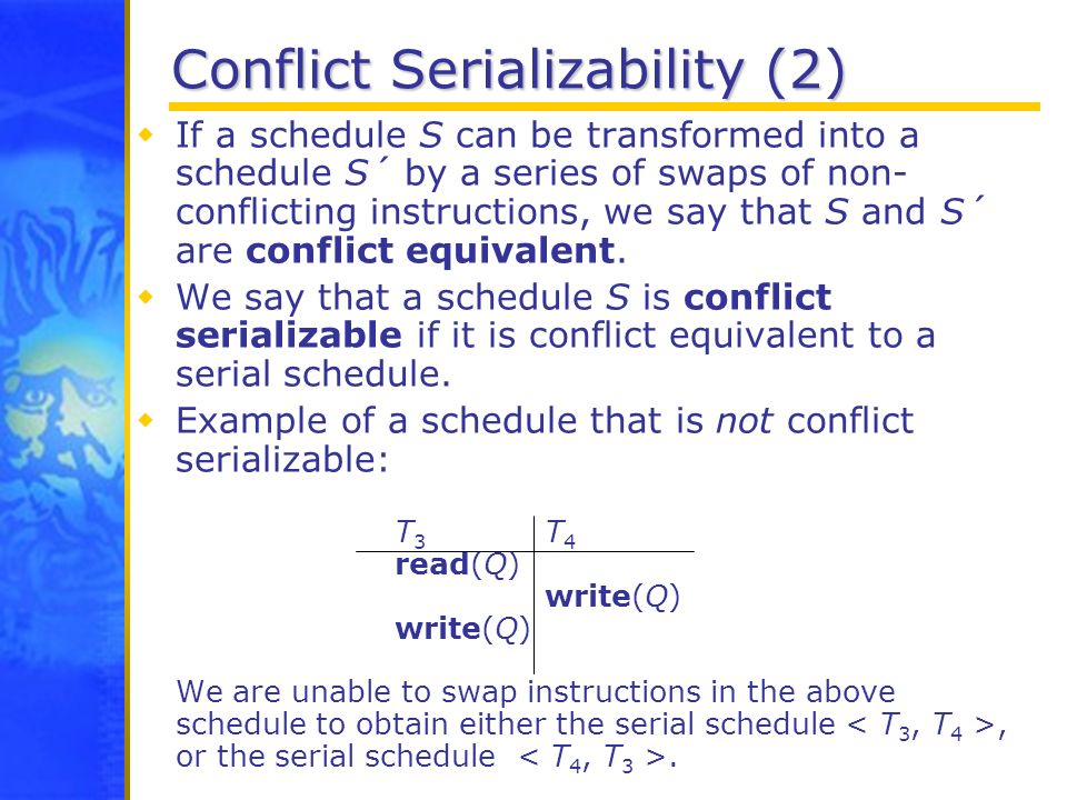 Conflict Serializability (2)