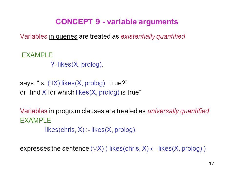 CONCEPT 9 - variable arguments