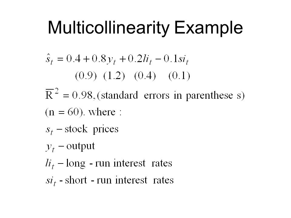 Multicollinearity Example