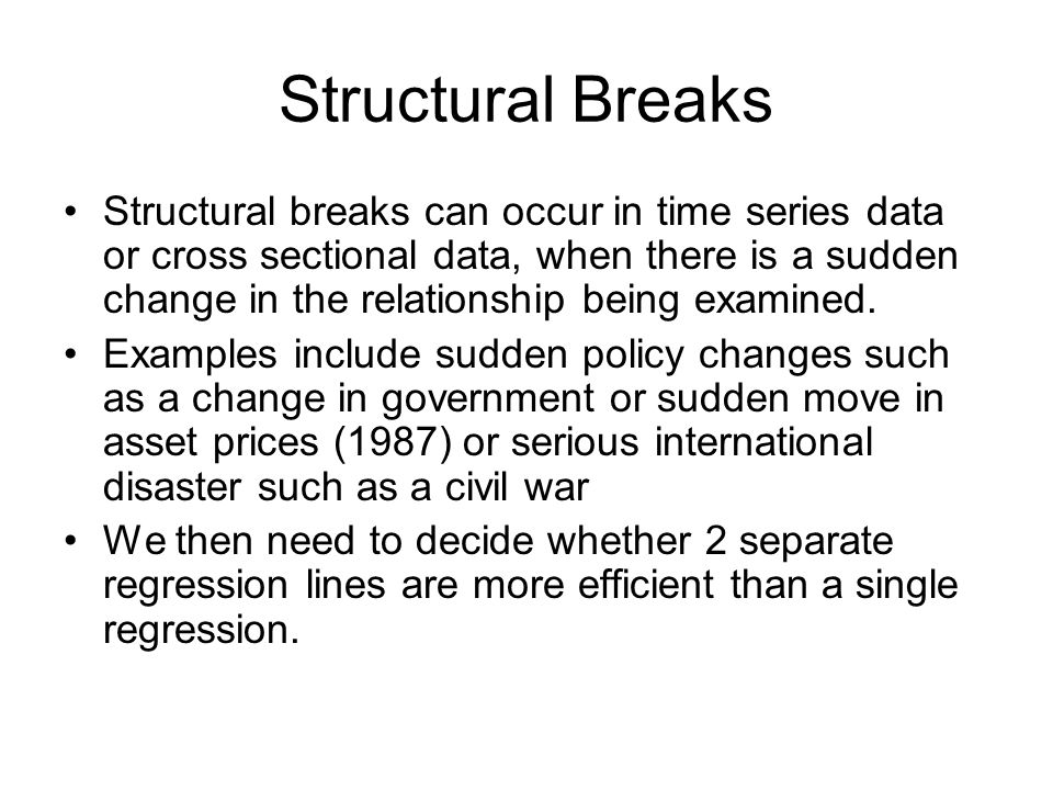 Structural Breaks