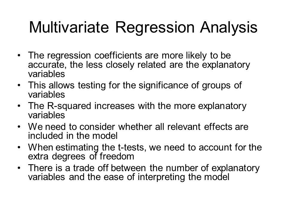 Multivariate Regression Analysis