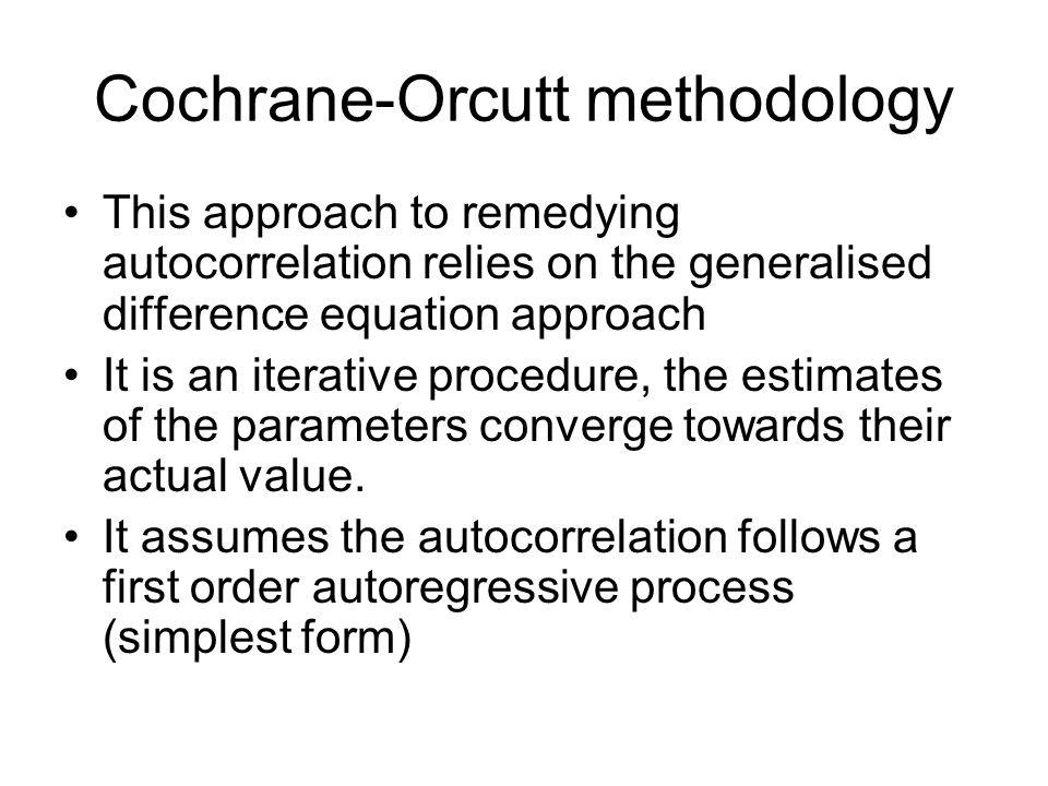 Cochrane-Orcutt methodology