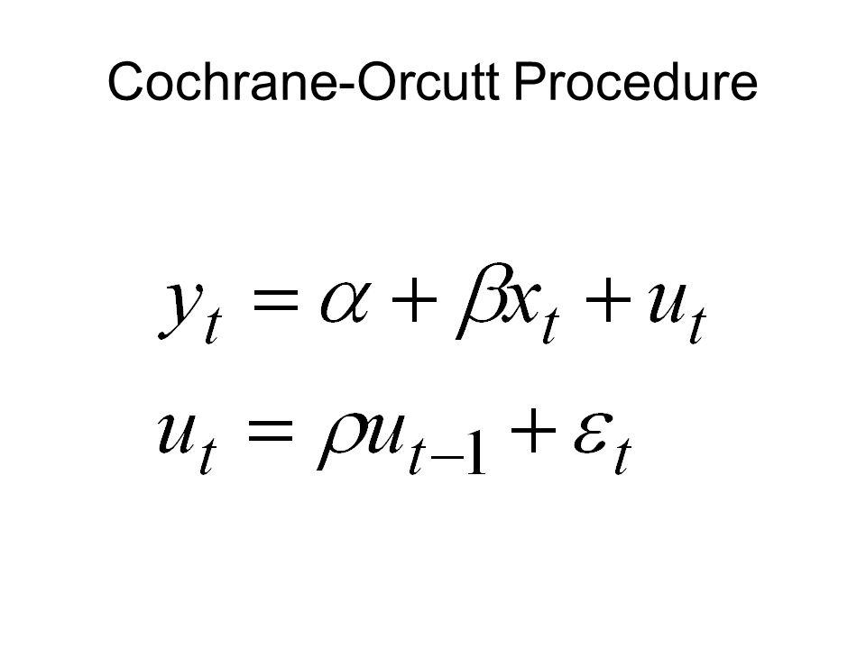 Cochrane-Orcutt Procedure