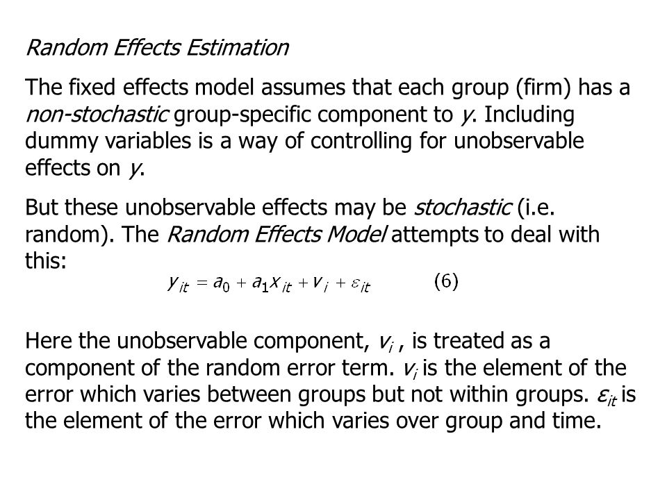 Random Effects Estimation