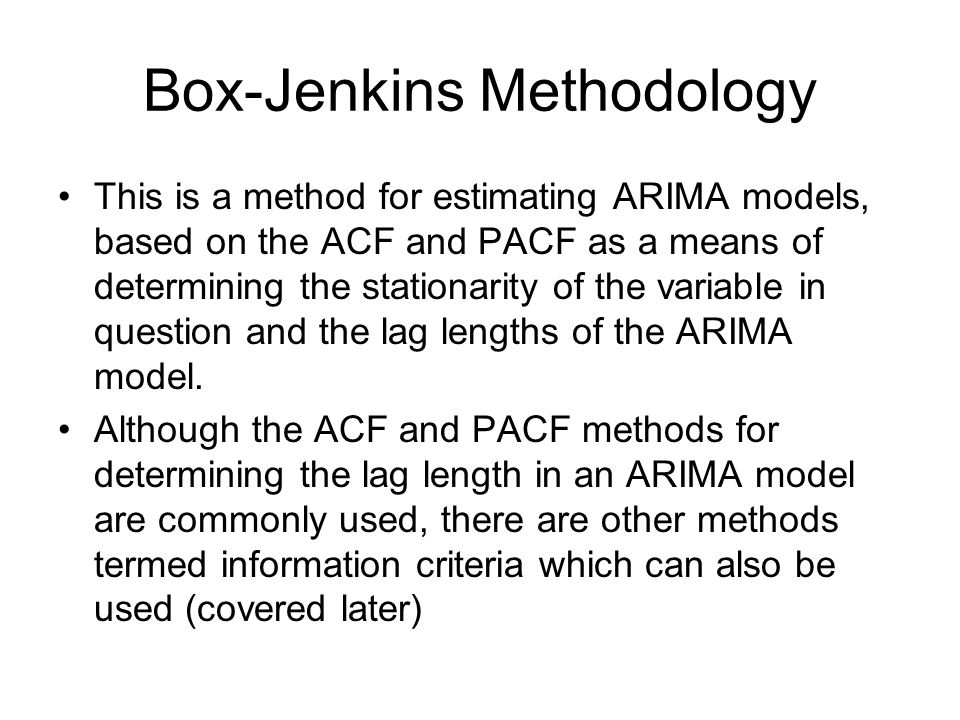 Box-Jenkins Methodology