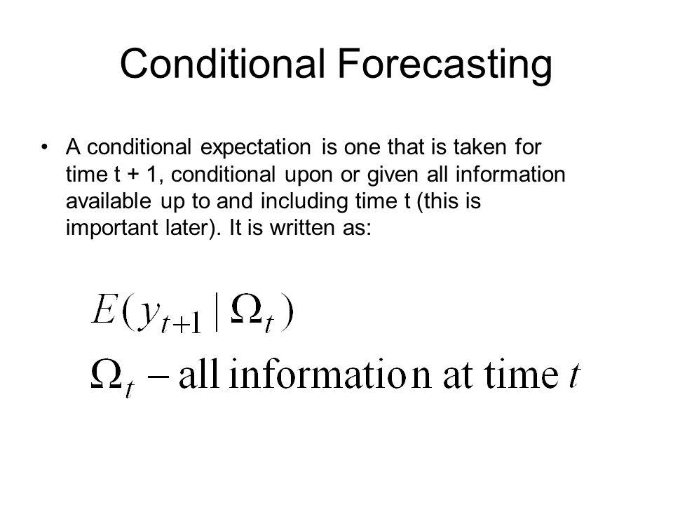 Conditional Forecasting