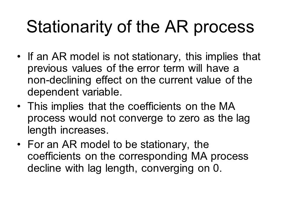 Stationarity of the AR process