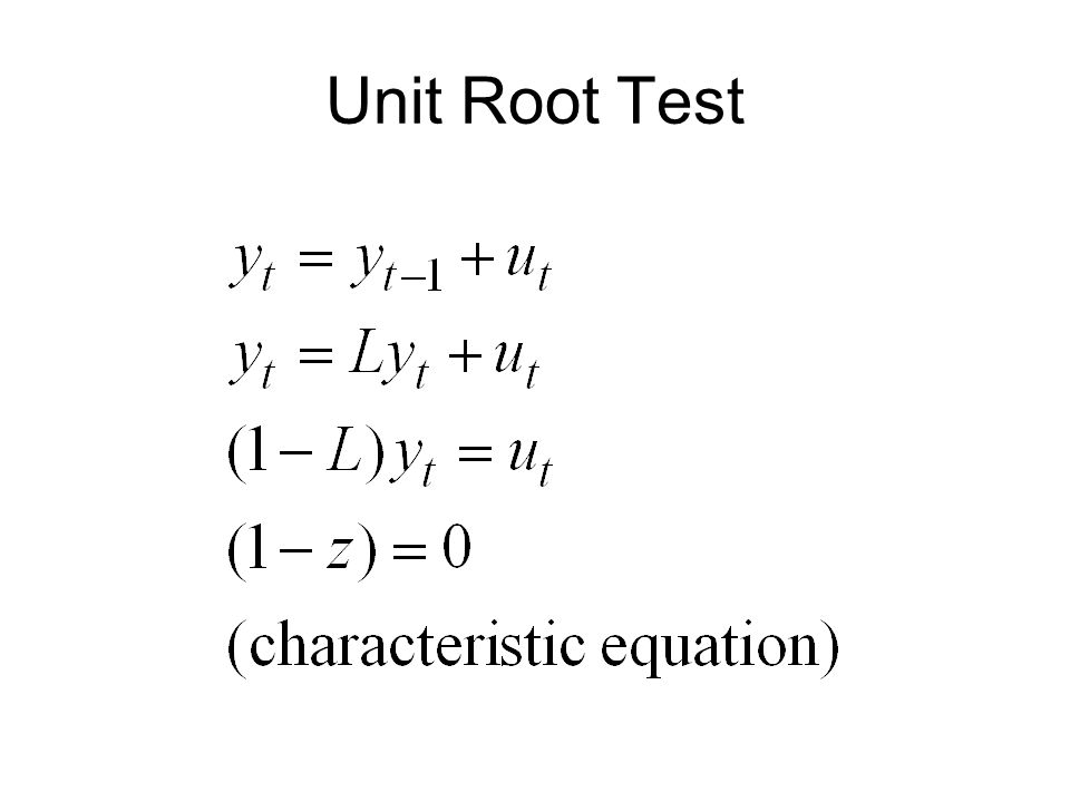 Unit Root Test