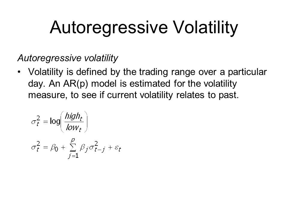 Autoregressive Volatility