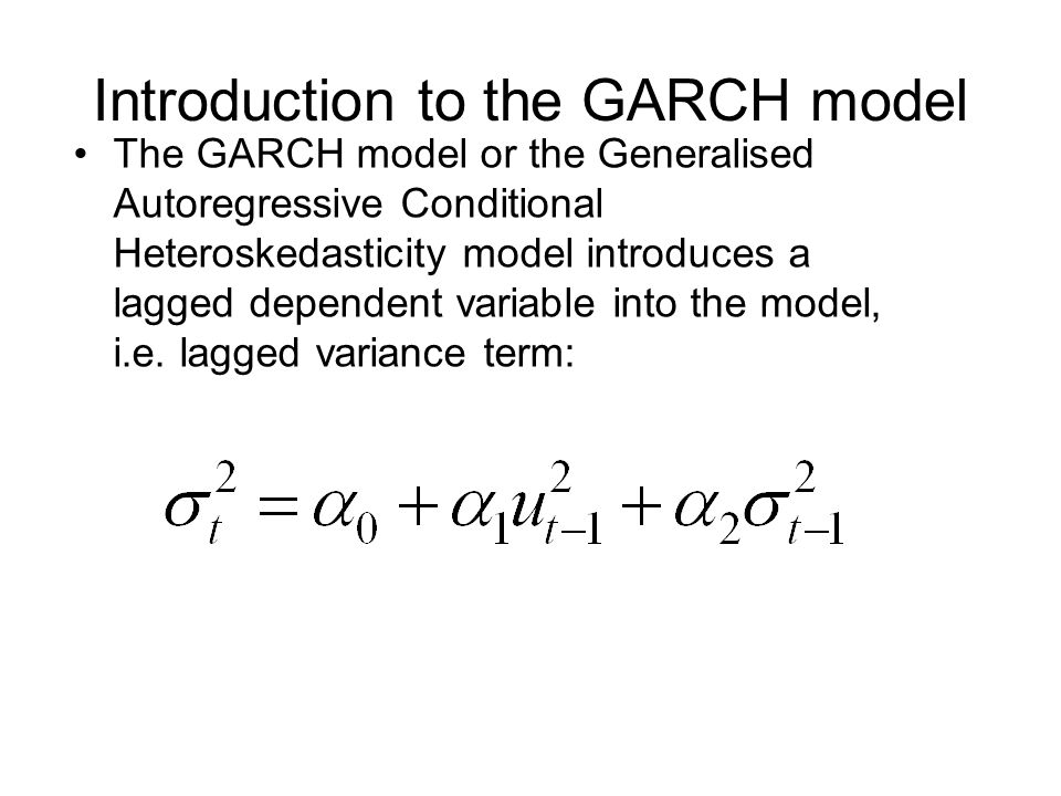 Introduction to the GARCH model