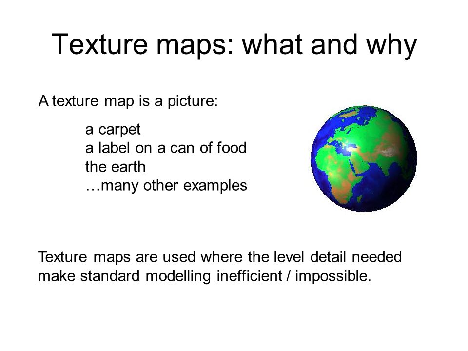 Texture maps: what and why