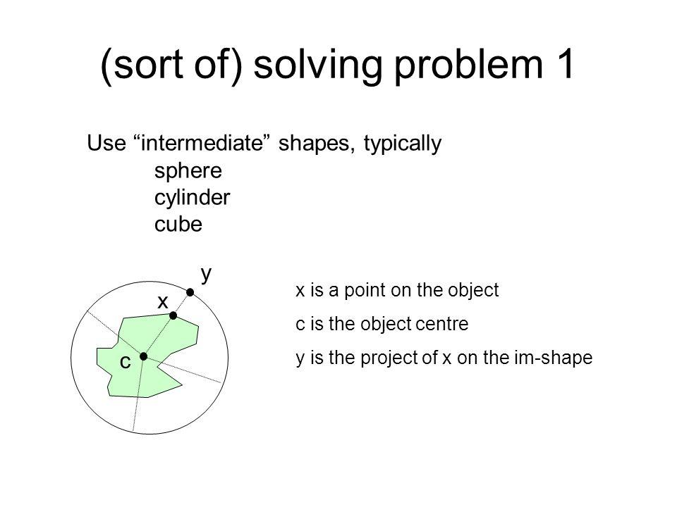 (sort of) solving problem 1