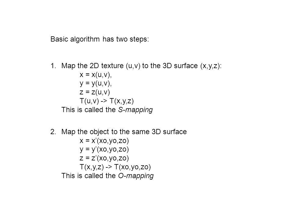 Basic algorithm has two steps: