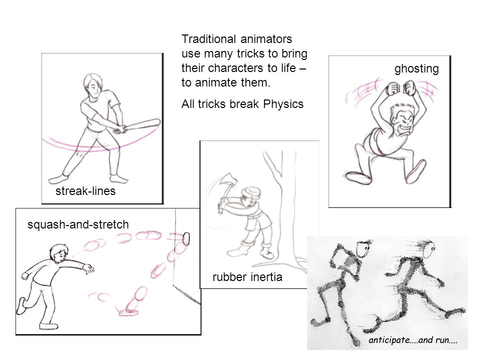 Traditional animators use many tricks to bring their characters to life – to animate them.