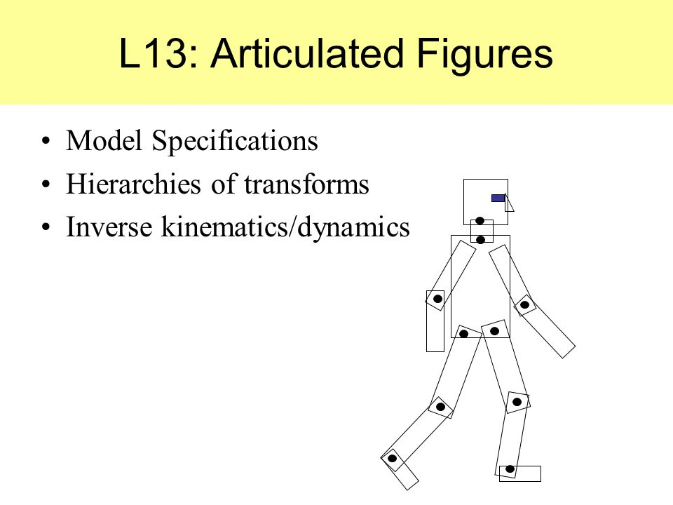 L13: Articulated Figures