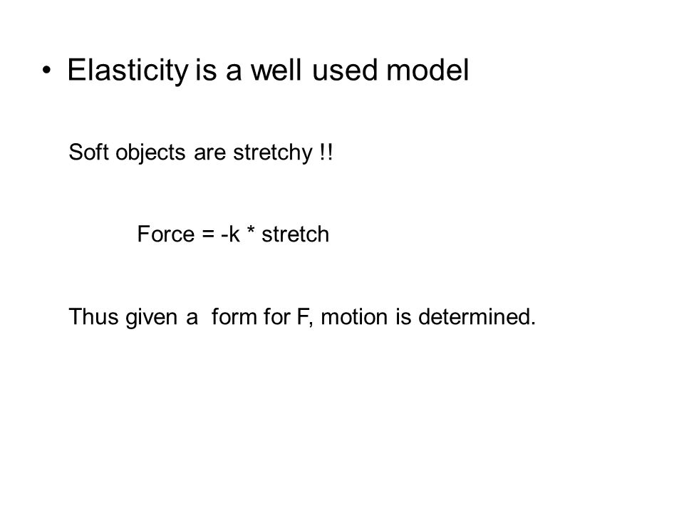 Elasticity is a well used model