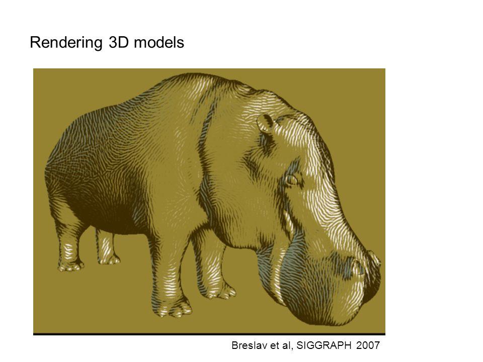 Rendering 3D models Breslav et al, SIGGRAPH 2007