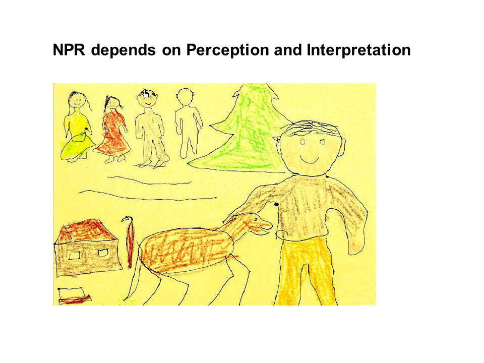 NPR depends on Perception and Interpretation