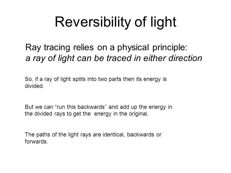 Reversibility of light