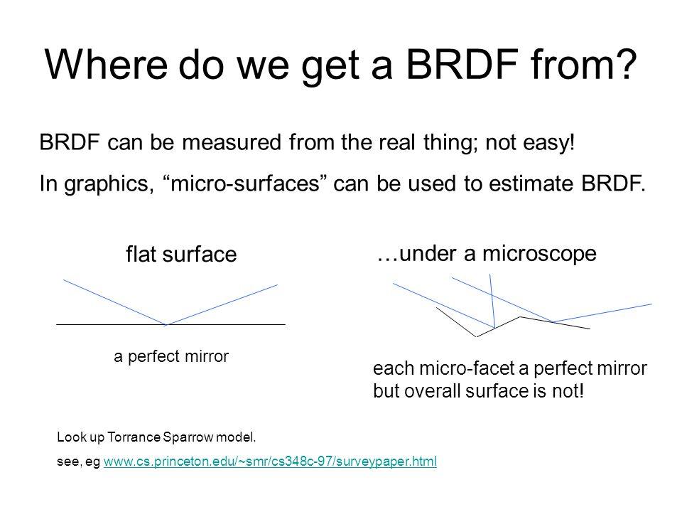 Where do we get a BRDF from