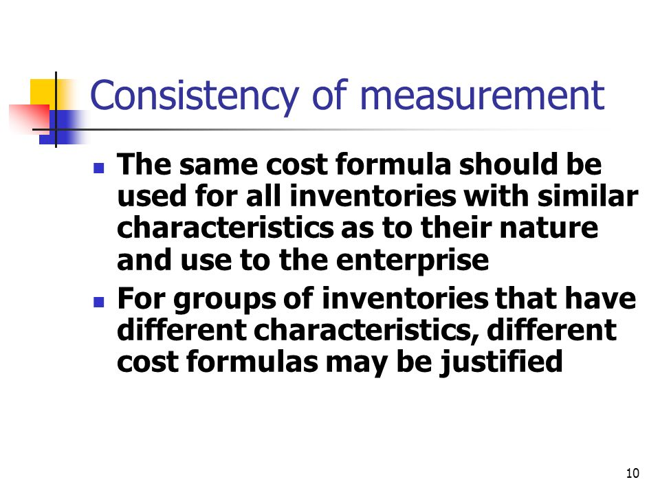 Consistency of measurement