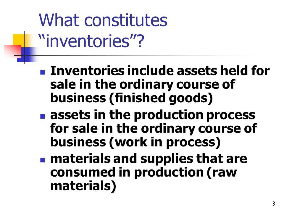 What constitutes inventories