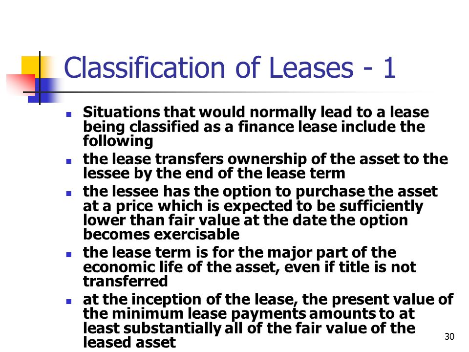 Classification of Leases - 1