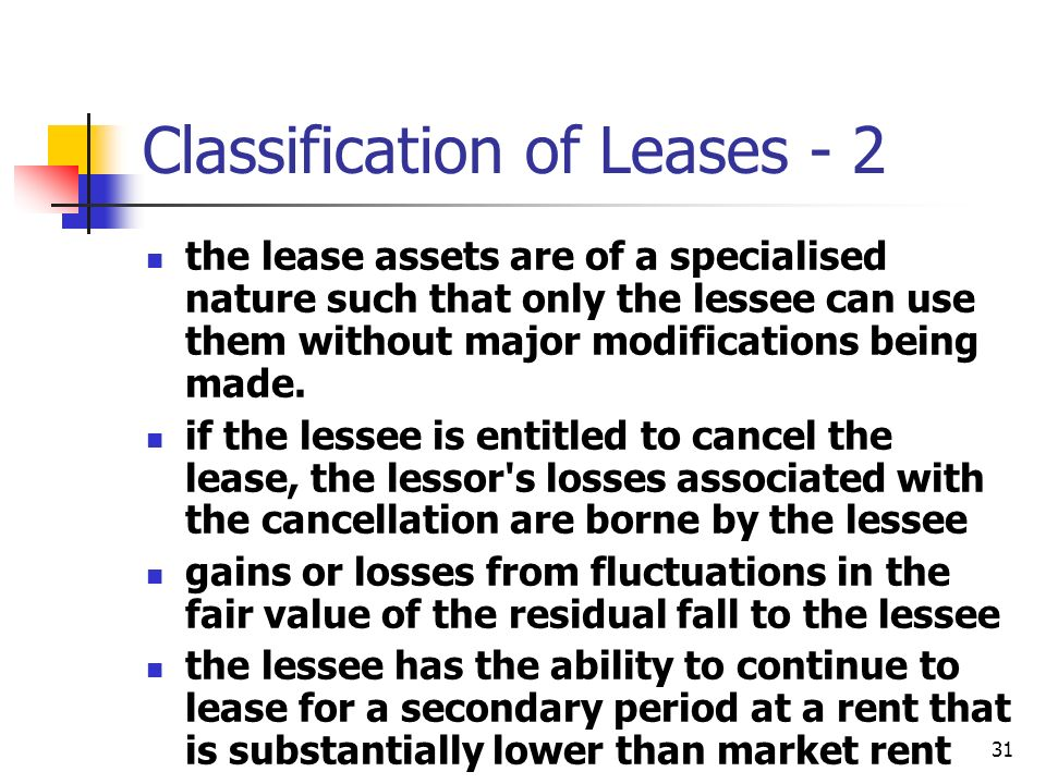 Classification of Leases - 2