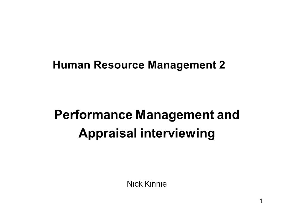 human resource management appraisal interview Sample interview questions for managerial positions when you recommend something to management, what approach do you usually use office of human resources 820 n michigan ave, chicago , il.