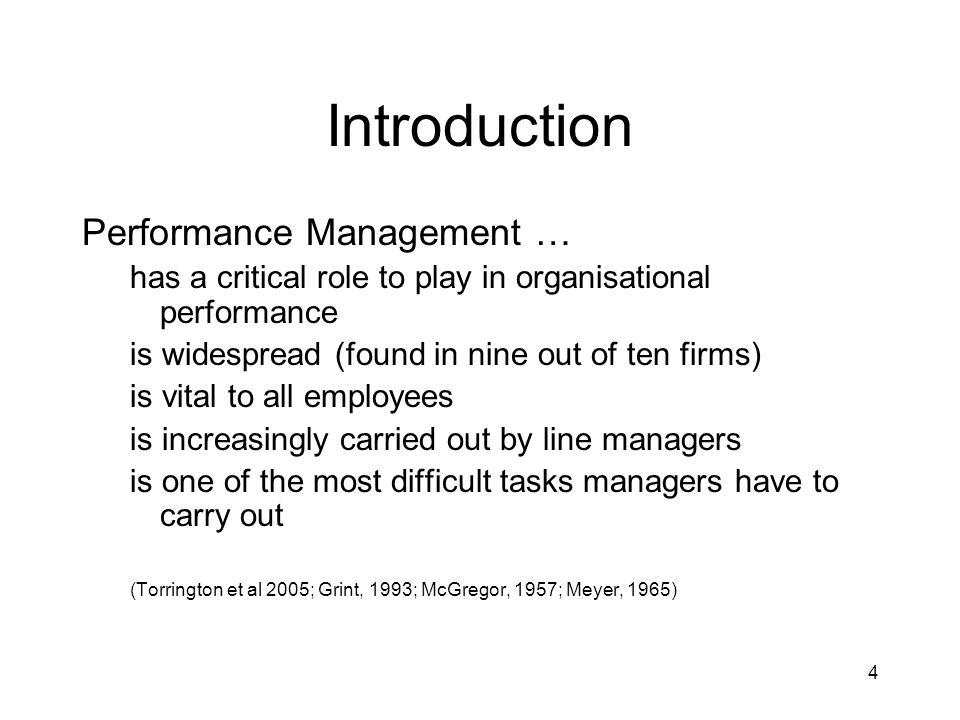 Introduction Performance Management …