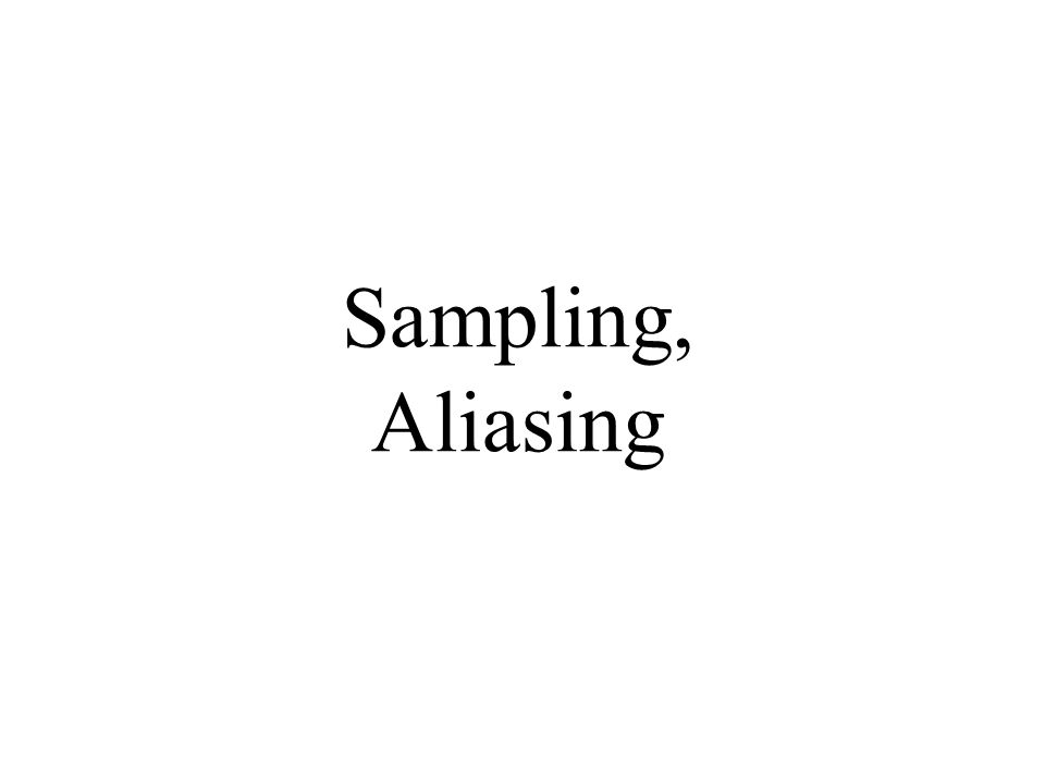 Sampling, Aliasing