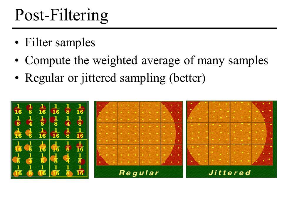 Post-Filtering Filter samples