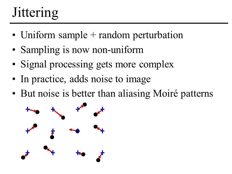 Jittering Uniform sample + random perturbation