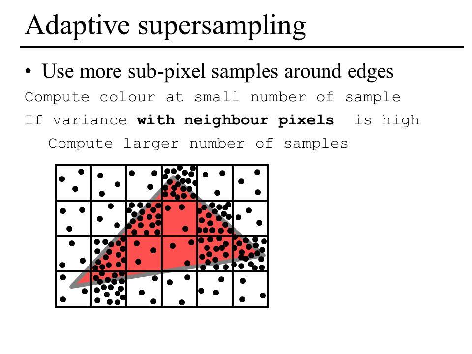 Adaptive supersampling
