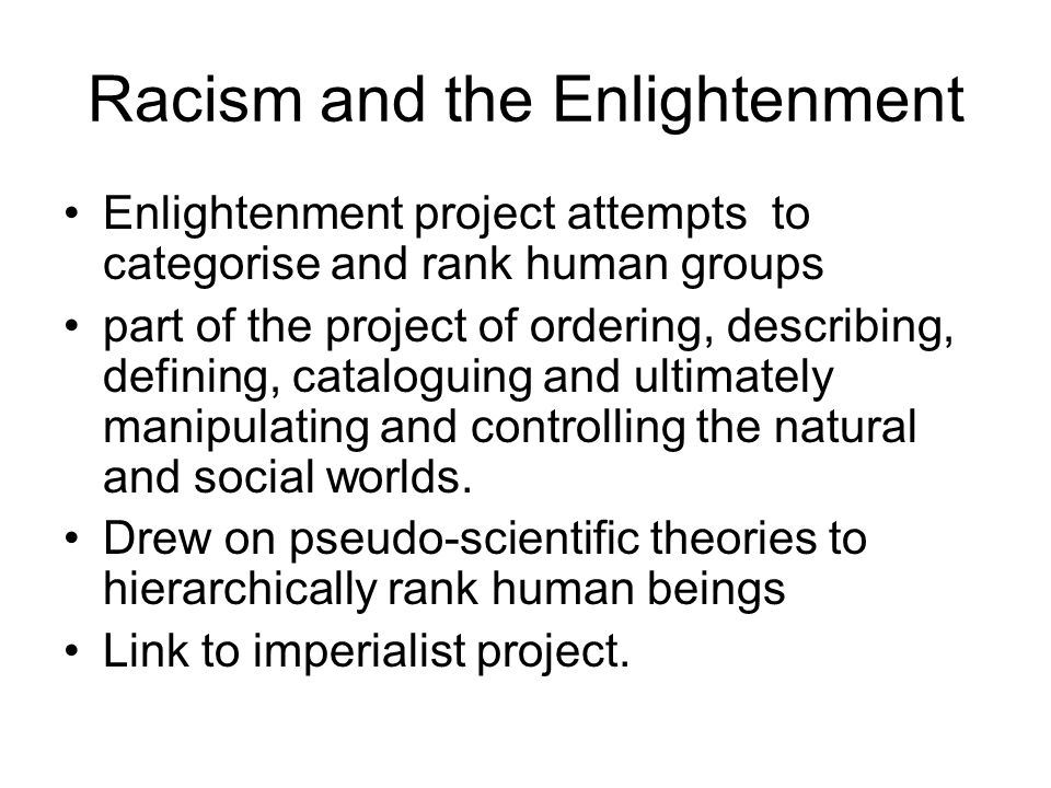 Racism and the Enlightenment
